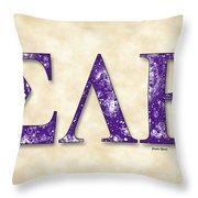 Sigma Lambda Beta - Parchment Throw Pillow