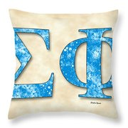 Sigma Phi Society - Parchment Throw Pillow