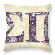 Sigma Pi - Parchment Throw Pillow