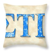 Sigma Tau Gamma - Parchment Throw Pillow
