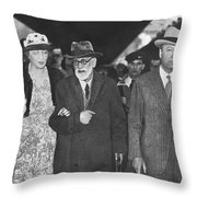 Sigmund Freud Exiled Throw Pillow