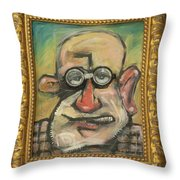 Sigmund Mit Frame Throw Pillow