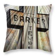 Sign - Barker Temple - Kcmo Throw Pillow