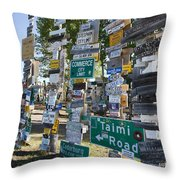 Sign Forest Watson Lake Throw Pillow