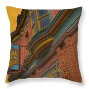 Sign - Frederick Inn Steakhouse And Lounge Throw Pillow