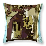 Sign Of The Jackalope Throw Pillow