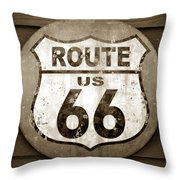 Sign Of The Old Road Throw Pillow