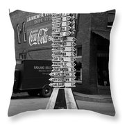 Sign Post In Crossville Tennessee 1939 Throw Pillow