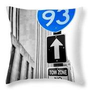 Interstate 93 Throw Pillow