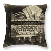 Signage A Journey Into The Movies Throw Pillow