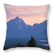 Signal Mountain Grand Teton National Park Throw Pillow