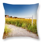 Signpost On Path Throw Pillow