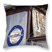 Signs In Old Cottonwood Throw Pillow