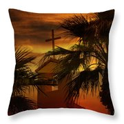 Signs In The Heavens Throw Pillow by Beverly Guilliams