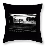 Signs Monochrome Throw Pillow