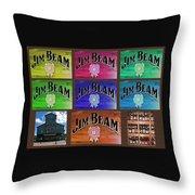 Signs Of Jim Beam Throw Pillow
