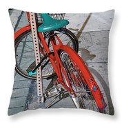 Signs Of Parking At Sundown 2 Throw Pillow