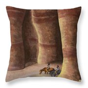 Signs Of The Past Throw Pillow