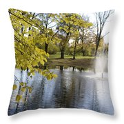 Sigulda Pond Throw Pillow