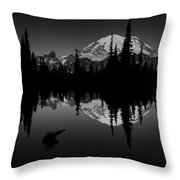 Sihlouette With Tipsoo Throw Pillow by Mark Kiver