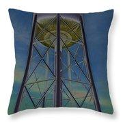 Sikeston Water Tower  II Throw Pillow
