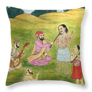 Sikh Painting Throw Pillow