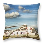 Sikorsky Sh-60b Seahawk Helicopter Throw Pillow