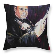 Pencak Silat - Pelatih Johnny Dutrieux Throw Pillow