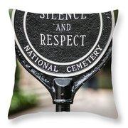 Silence And Respect Throw Pillow by Steve Gadomski