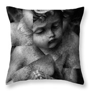 Silence Of A Seraphim  Throw Pillow