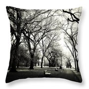 Silence Of Steps  Throw Pillow
