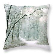 Silence Of Winter Throw Pillow
