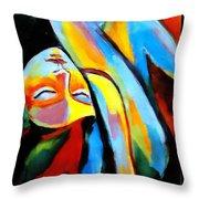 Silenced Desires Throw Pillow