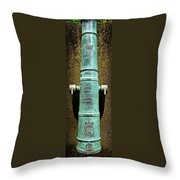 Silenced -- Surrendered British Cannon Throw Pillow