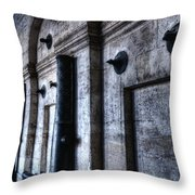 Silent Cannons Throw Pillow