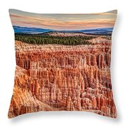 Silent City @ Sunrise Throw Pillow
