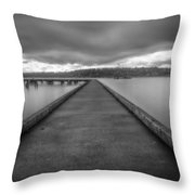 Silent Dock Throw Pillow