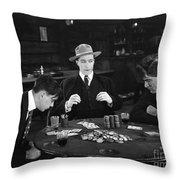 Silent Film Still: Gambling Throw Pillow