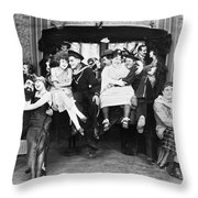 Silent Film Still: Parties Throw Pillow