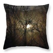 Silent Foggy Sunrise Throw Pillow