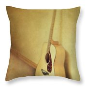 Silent Guitar Throw Pillow by Priska Wettstein