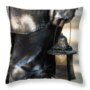 Silent Man II Throw Pillow