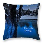Silent Night Throw Pillow by Betty LaRue