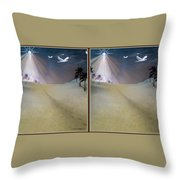 Silent Night - Gently Cross Your Eyes And Focus On The Middle Image Throw Pillow