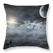 Silent Rise Throw Pillow
