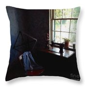 Silent Sewing Room Throw Pillow