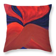 Silent She Emerges Throw Pillow