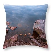 Silent Waters. Ladoga Lake Throw Pillow