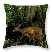 Silently Throw Pillow