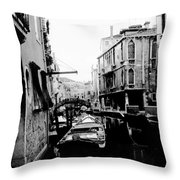 Silenzio Venice Italy Throw Pillow